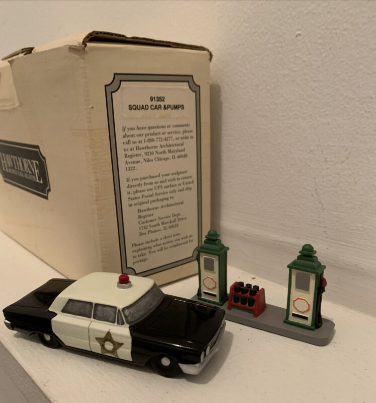 Hawthorne Village Squad Car & Pumps 91352 In Box Rare 1995 Andy Griffith