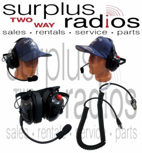 New Dual Muff Racing Headset for Kenwood K2 NX200 NX300 TK3180 TK2180 TK280