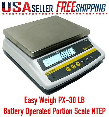 Easy Weigh Px-30 X 0.005 Lb Capacity Battery Operated Portion Control Scale Ntep