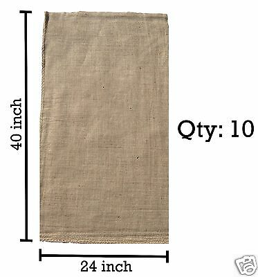(10) 24 x 40 Burlap Bags Wholesale Bulk - Sacks Potato Race Sandbags Home Depot