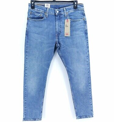 NWT Levi's Men's 512 Slim Fit Tapered Medium Wash Blue Stretch Jeans, Size 32x30