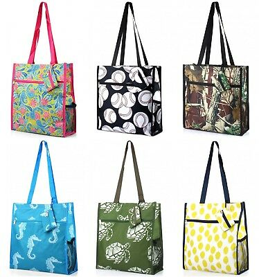 - Fashion Travel Shopper Tote Bag with Coin Purse Baseball Camo Turtle Paisley Dot