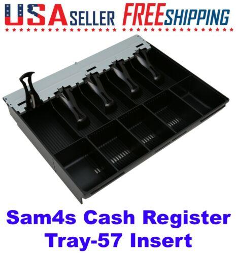 SAM4S Tray 57 Cash Drawer Insert Money, 5 Bills, 5 Coins ER-5200 ER-5215 ER-5240