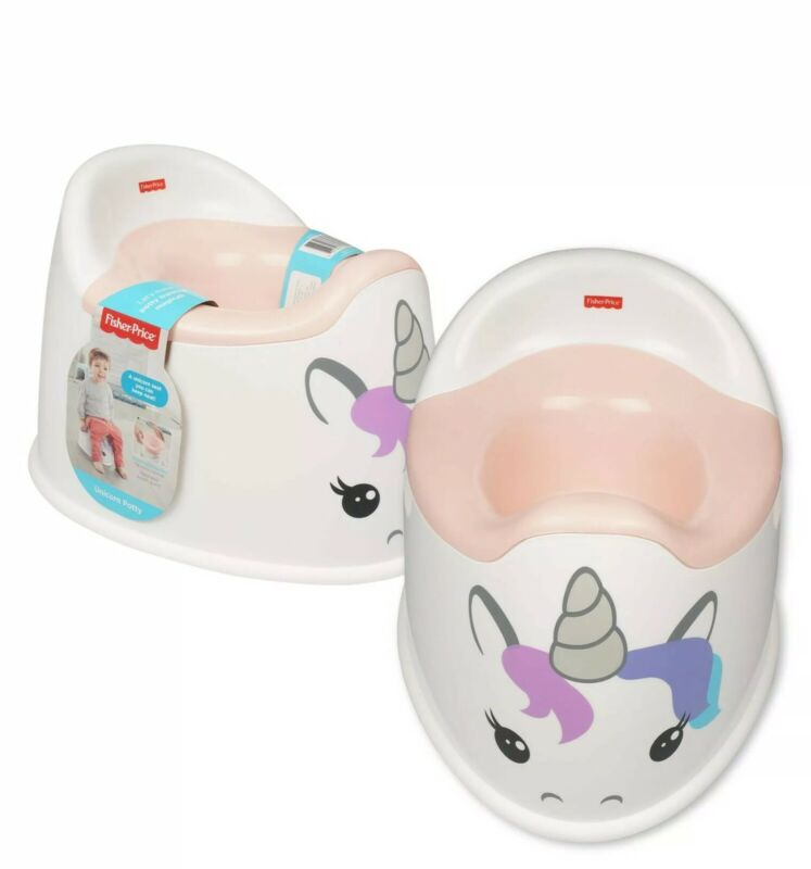Fisher Price Unicorn Potty Toddlers Toilet Training Easy Clean Free Shipping