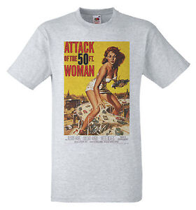 Attack of the 50 foot woman 1958 b movie poster retro 50s for Attack of the 50 foot woman t shirt