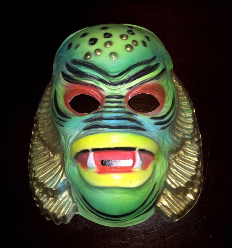 RARE Vintage Halloween Plastic Costume Mask CREATURE FROM THE BLACK LAGOON