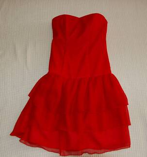 COCKTAIL PARTY Red Dress. Sz 8-10. Strapless Hillarys Joondalup Area Preview