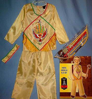 Native American Indian costume childs 4-6;8-10-Pioneer-tomahawk bow-arrows-LOT-9](Arrow Kids Costume)