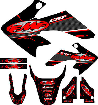 - Fit 04-12 CRF50 Red FMF Graphic Kit Shroud Plastic Decal CRF 50 decal MX Sticker