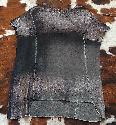 AVANT TOI Thick Knit Ombre Metallic Gray Black Oversize Boxy Artisan Sweater