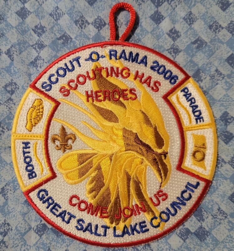 2006 Great Salt Lake Council Scout-O-Rama Scouting Has Heroes Pocket Patch