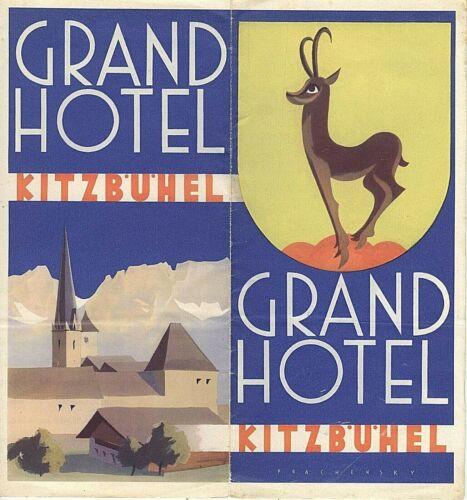 VINTAGE TRAVEL BROCHURE~GRAND HOTEL KITZBUHEL AUSTRIA