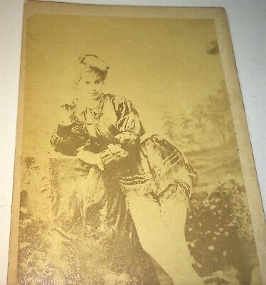 Rare Antique Victorian American Fashion Burlesque Performer Desmond CDV Photo US