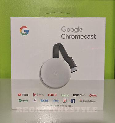 Google - Chromecast 3rd Generation Streaming Media Player - Chalk Grey