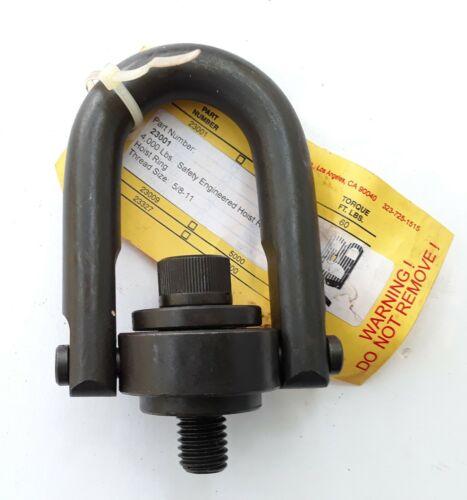 "ADB 5/8""-11 x 0.78"" Safety Engineered Swivel Hoist Ring - 4000 lbs WLL - #23001"