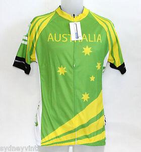 AUSTRALIAN Cycling Bike Jersey Tourist Australia Design Coolmax Large