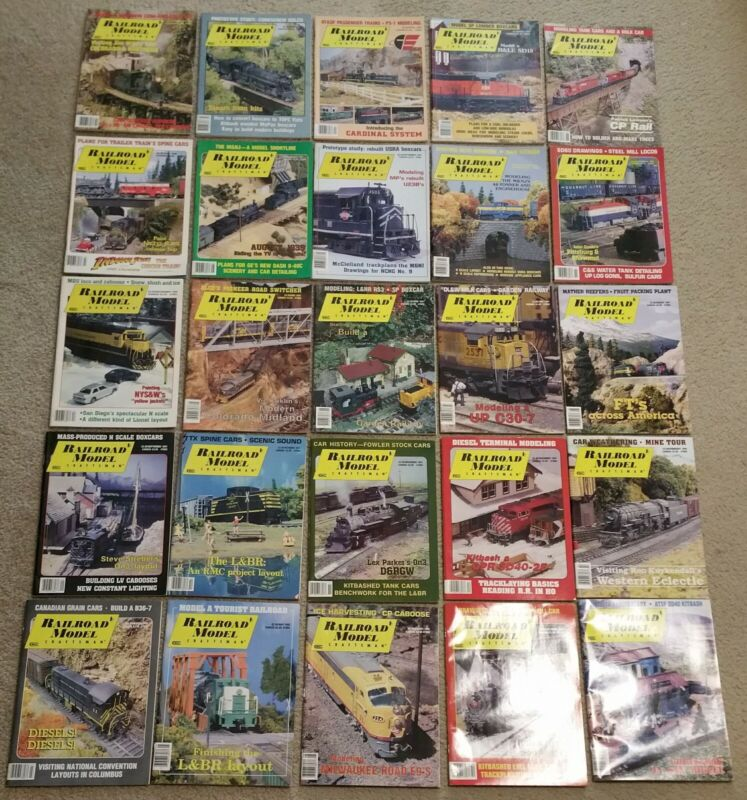 25 various issues Railroad Model Craftsman 1989 to 1992