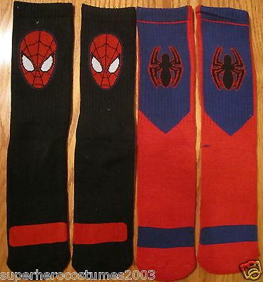 The Amazing Spider-Man Athletic Mannschafts Socken 2 Paar Marvel Comics Herren (Herren-socken Spiderman)