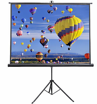 """VIVO 84"""" Portable Projector Screen 4:3 Projection Pull Up Foldable Stand Tripod"""