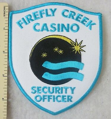 FIREFLY CREEK MINNESOTA CASINO SECURITY OFFICER PATCH on WHITE Vintage ORIGINAL
