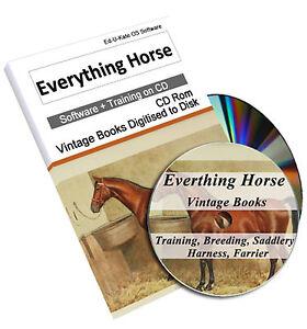 Rare Horse Training Riding Books on DVD  Schooling Behaviour Farrier Shoeing 223