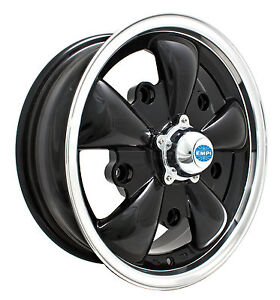 VW BUG GHIA WHEELS GT-5-Spoke EMPI  5.5 X 15  5X205  GLOSS BLACK