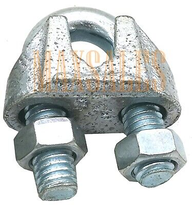 New Chain Galvanized Wire Rope Clip Cable Clamp Choose Your Size And Qty