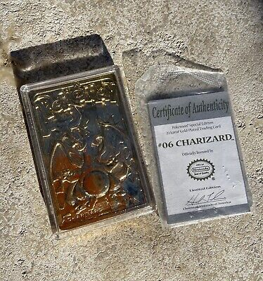 Pokemon Charizard 23K Gold-Plated Trading Card Very good condition Burger King