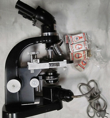 Microscope Ernest Leitz Wetzlar 664564 Research Lab Equipment Devices German