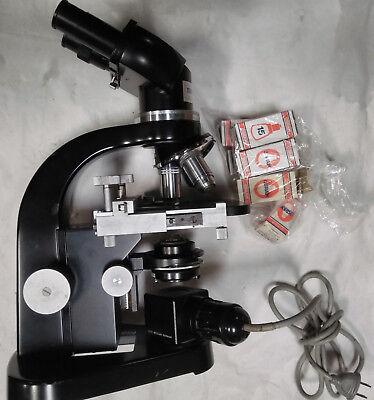 Microscope Ernest Leitz Wetzlar 664564 Research Lab Equipment Devices German