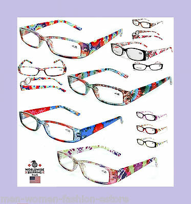 New Womens Ladies Burnout Tie Dye Style Readers Reading Glasses Fashion (Tie Dye Sonnenbrille)
