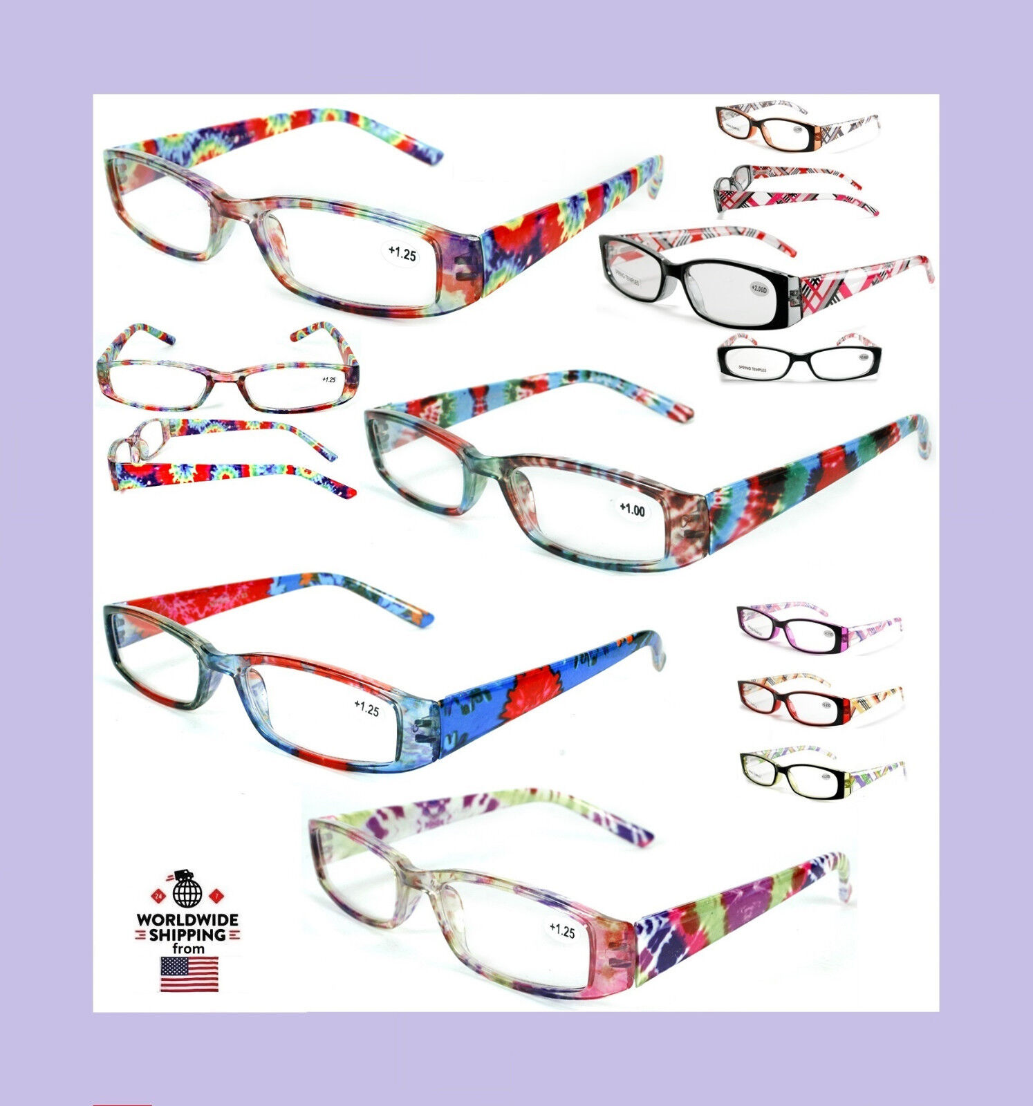 85bb06a80ffd New Women's Ladies Burnout Tie Dye Style Readers Reading Glasses Fashion  Designer Various Strengths: +1.00 +1.25 +1.5 +1.75 +2.00 +2.25 +2.50 +2.75  +3.00 + ...