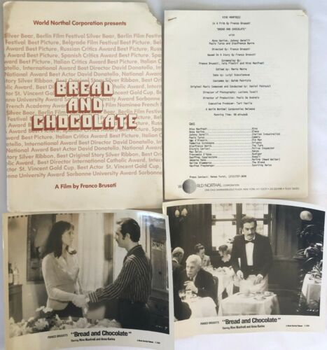 """BREAD AND CHOCOLATE"" ORIGINAL MOVIE PRESS KIT! EXTREMELY RARE 1978, USA VERSION"