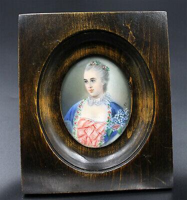 Beautiful Miniature Painting, Young Woman 19.Jahrhundert