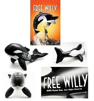 Free Willy Blow Up Inflatable Killer Whale Orca Promotional Warner Bros ](Inflatable Willy)