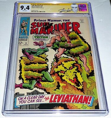 Sub-Mariner #3 CGC SS Signature Autograph STAN LEE Triton & Plantman Appearance