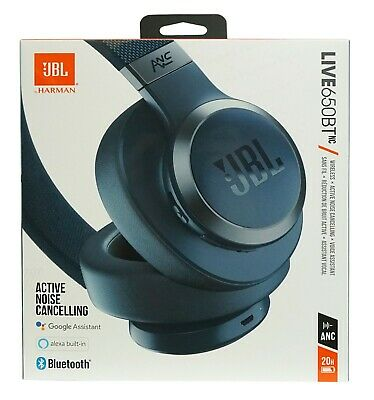 JBL LIVE 650BTNC Wireless Over-Ear Noise-Cancelling Headphones *LIVE650NCBLU