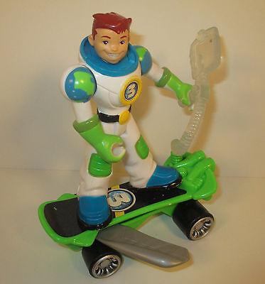 "2006 Earth Ace 5"" Green Suit #3 & Skateboard Planet Heroes Mattel Action Figure"