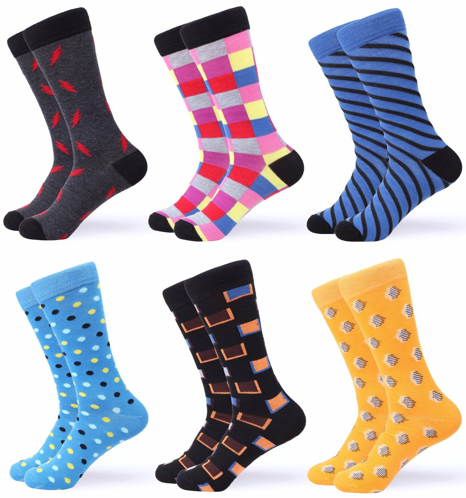 Gallery Seven Mens Dress Socks. Funky Colorful Socks for Men