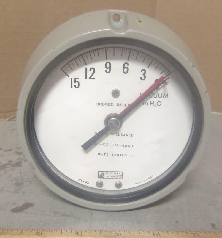 Weksler Instruments - Indicating Vacuum Gage - P/N: NL14P (NOS)