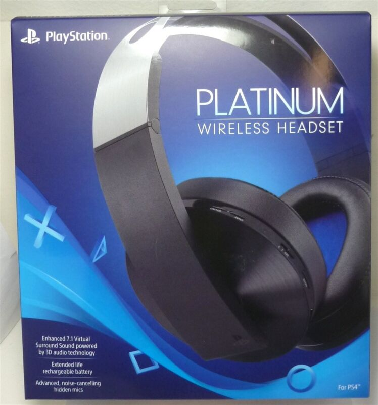 Sony Platinum Wireless 7.1 Surround Sound Gaming Headset For PlayStation 4, PS4