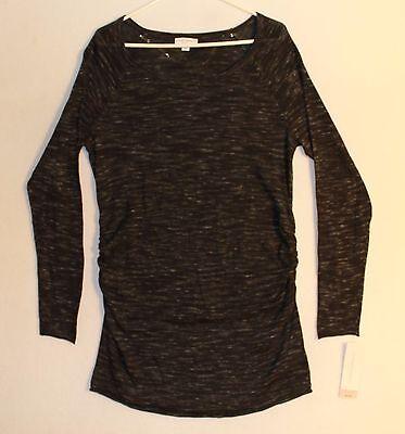 Liz Lang Maternity Long Sleeve Knit Sweater Woman's Size XL Dark Gray Heather