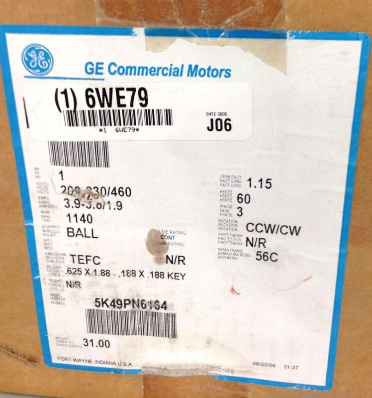 GE CONDENSER FAN MOTOR  5K49PN6164