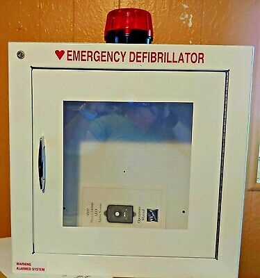 Modern Metal 180sm-14r Aed Wall Cabinet With Alarm Strobe