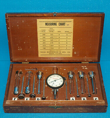 Tiplor Groove Gage Set .240-1.252 Range With Starrett Dial Indicator