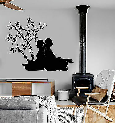 Vinyl Wall Decal Zen Meditation Yoga Poses Buddhism Stickers