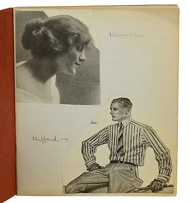 Blanche ~ HOMEMADE PICTORIAL MANUSCRIPT ca. 1910 ~ Anonymous ~ Fashion Cut-Outs