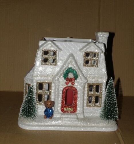 BATH AND BODY WORKS CHRISTMAS 2018 HOLIDAY HOUSE LUMINARY 3-WICK CANDLE HOLDER