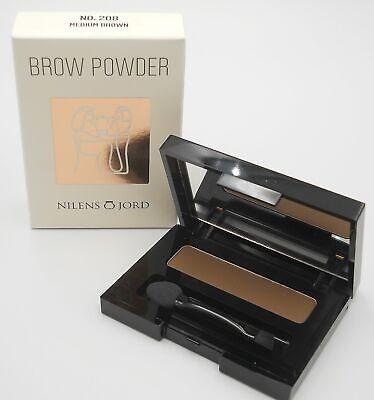Brown Brow Powder (Nilens Jord - Brow PowderNo. 208 Medium Brown 1,88 g)