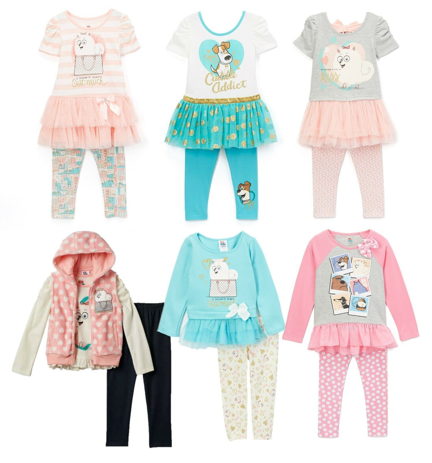 Girls and Toddler Clothes Leggings Outfit Set Sleeve Ruffle